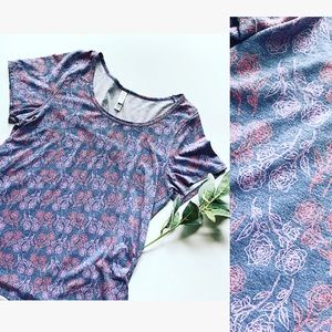 LULAROE Perfect T With Vintage Roses